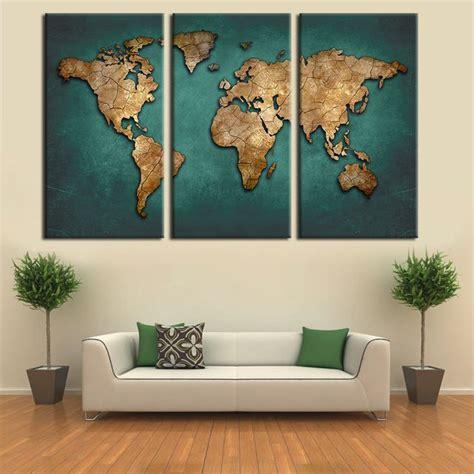 toile carte du monde carte du monde toile peinture murale d 233 cor 192 la maison vintage grand fonc 233 vert cartes
