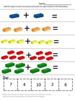 colors preschool or kindergarten math literacy centers