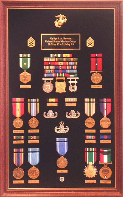 customized military award displays precision medals