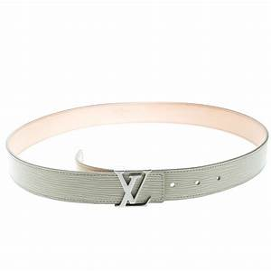 Buy Louis Vuitton Ivorie Leather LV Initials Belt Size 85 ...