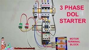 3 Phase Dol Starter Connection  Three Phase Induction