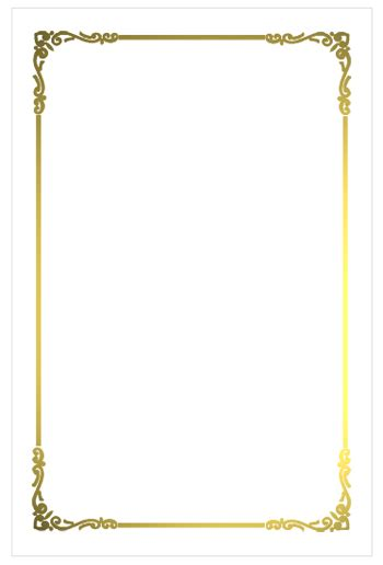 white border png  regal border flat card white gold