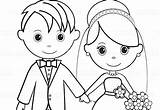 Groom Bride Coloring Printable Activity Personalized Colouring Favor Pdf Getcolorings Template Childrens Mariage Getdrawings Cake sketch template