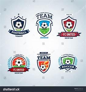 Soccer Logo Football Logo Set Soccer Stock Vector ...