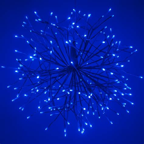 Les Light by Blue Starburst Lighted Branches With Blue Cool White Led