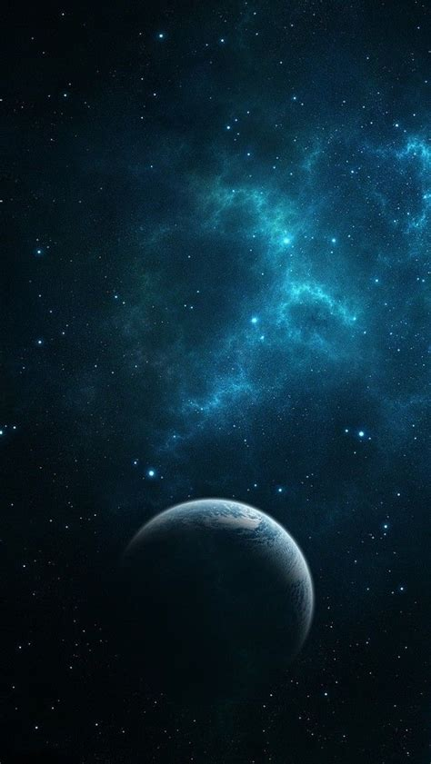 dark blue space wallpaper hd   mobile android iphone