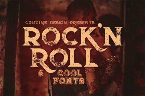 rockn roll typeface display fonts creative market