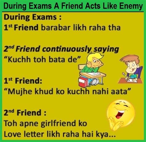 exams  friend acts  enemy funny joke funnyho