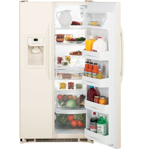 dispense java ge 174 energy 174 22 1 cu ft side by side refrigerator