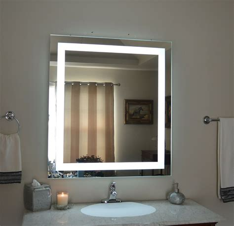 lighted vanity mirrors   wall mounted  wide