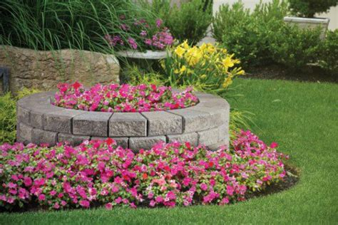 garden wall by unilock with stack photos