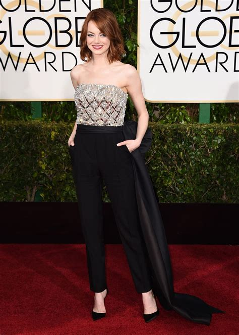Emma Stone 2015 Golden Globe Awards In Beverly Hills