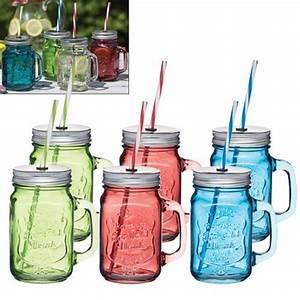 Mason Jar Paille : verre mason jar avec paille 450ml kitchen craft kookit ~ Teatrodelosmanantiales.com Idées de Décoration