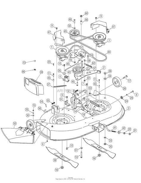 Troy Bilt Bronco Deck Belt Diagram by Troy Bilt 13ax60tg766 Bronco 2006 Parts Diagram