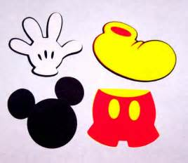 custom cupcake toppers 32 mickey mouse die cut shapes 2 inches by snidesignsnsupplies
