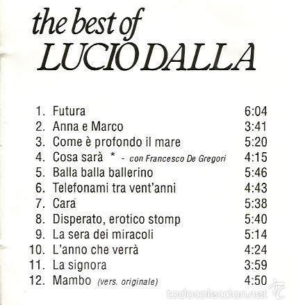 De Gregori The Best Cd The Best Of Lucio Dalla Incluye Duo Con Fr Comprar