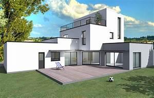 Plan Facade Maison : exemple de facade de maison avec exemple couleur facade maison beautiful exemple couleur facade ~ Melissatoandfro.com Idées de Décoration