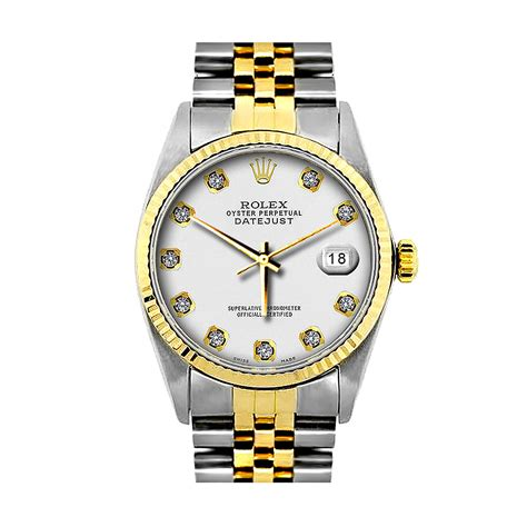 mens diamond rolex oyster perpetual datejust gold