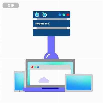 Icon Server Animation Servers Animated Database Website