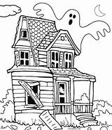 Haunted Coloring Pages Printable Cool2bkids sketch template