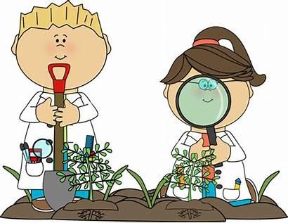 Science Clip Clipart Children Plants Clipartpanda Examining