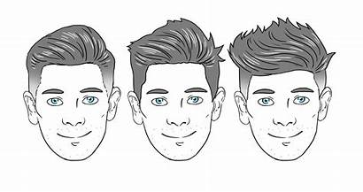 Face Shape Oval Hairstyle Facial Messy Boys
