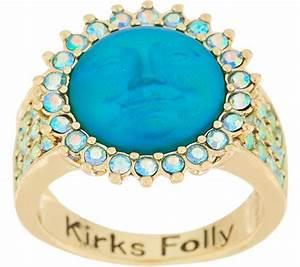 Kirks Folly Seaview Moon Ring Qvc Com Moon Ring