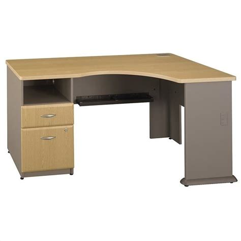 bush series a desk bush business series a corner desk in light oak wc64328pa