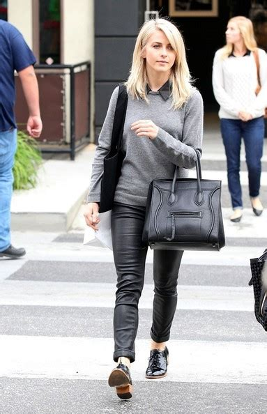 Julianne Hough Casual Chic Leather Pants Outfit | Styles Weekly