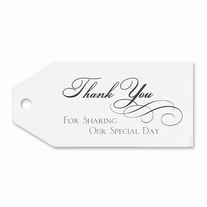 Thank Favor Tags Sharing Special Favors Cards