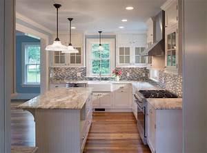 tuscan brown granite kitchen farmhouse with gas range