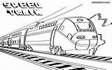 Train Coloring Pages Railway Bullet Drawing Speed Print Getdrawings sketch template