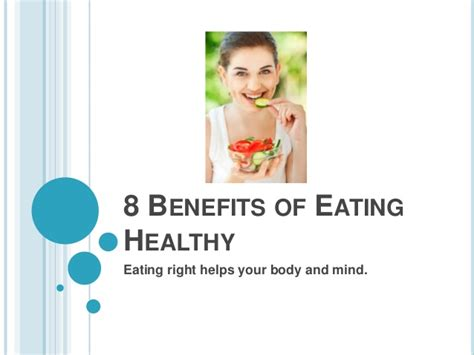 8 Benefits Of Eating Healthy