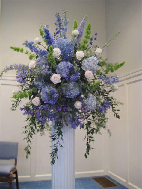 hydrangea delphinium bells  ireland agapanthus blue