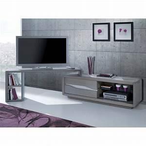 Meuble En Coin : meuble de tv en coin meuble tv 120 maisonjoffrois ~ Teatrodelosmanantiales.com Idées de Décoration