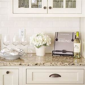 venetian gold light granite with off white subway tile and With kitchen colors with white cabinets with instagram story stickers
