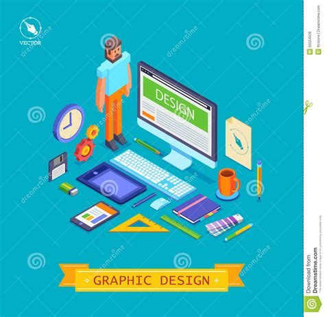 tool graphic design by nathan vector isometric illustration icons set of stock vector