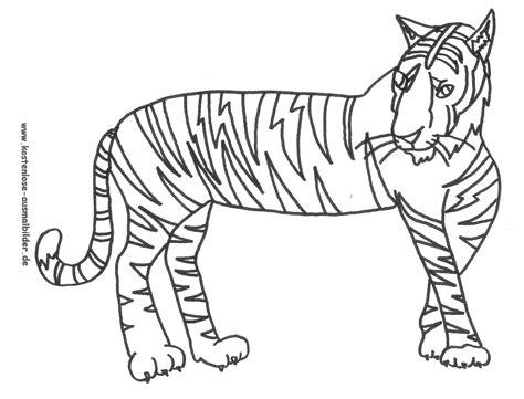 ausmalbilder malvorlagen tiger