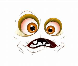 Scared Cartoon Face Expression Stock Image