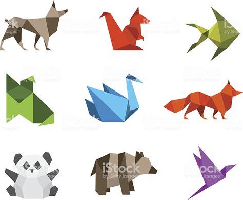 Logo Origami Animals Stylizations Stock Vector Art & More