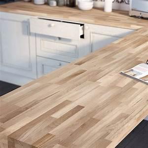 plan de travail bois chene brut mat l250 x p65 cm ep38 With plan de travail exterieur bois