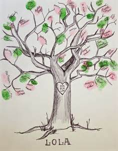 baby shower fingerprint tree ink guest book tree