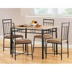 mainstays 5 piece wood and metal dining set natural furniture walmart com