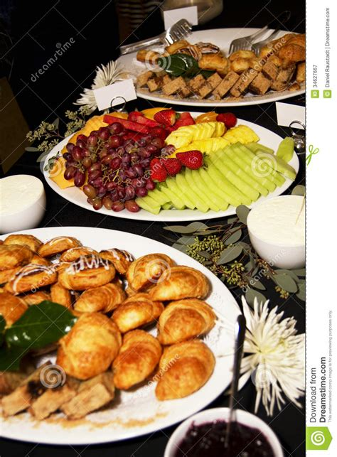business meeting breakfast party buffet royalty  stock