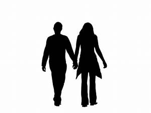 PresentationPro - Silhouette Family Couple Walking
