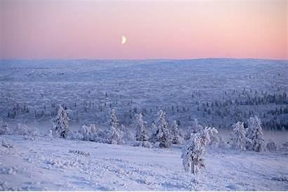 Polar Night Arctic Circle Lapland Landscape Fi