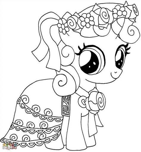 mewarnai gambar   pony  cantik care bears
