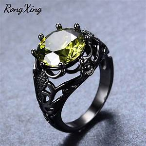 Rongxing fashion august birthstone rings for women men for Mens wedding rings with birthstones