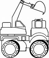 Bulldozer Coloring Truck Side sketch template