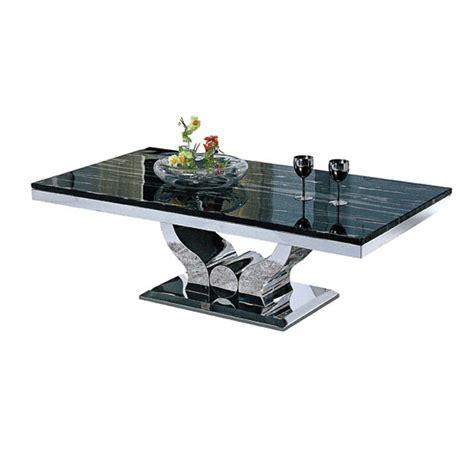 canapé angle cuir blanc table basse design en inox massif et marbre ou verre